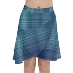 Unity Of Lines Chiffon Wrap Front Skirt by TimelessFashion