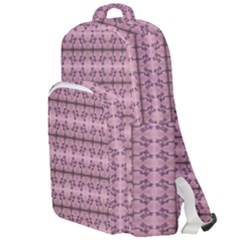 Cute Flowers Vine Pattern Pastel Coral Double Compartment Backpack