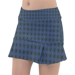 Argyle Dark Purple Black Pattern Tennis Skirt
