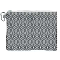 Ornate Oval Pattern Grey Black White Canvas Cosmetic Bag (xxl)