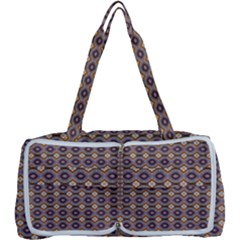 Ornate Oval Pattern Brown Blue Multi Function Bag by BrightVibesDesign