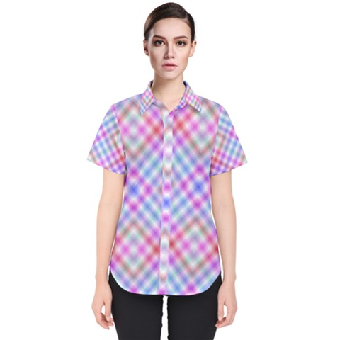 Faded Colors Women s Short Sleeve Shirt by TimelessFashion
