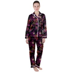 Disco Of Stars Satin Long Sleeve Pyjamas Set by TimelessFashion