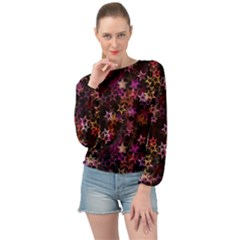 Disco Of Stars Banded Bottom Chiffon Top by TimelessFashion