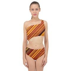 Diagonal Stripes 1 Spliced Up Two Piece Swimsuit by TimelessFashion