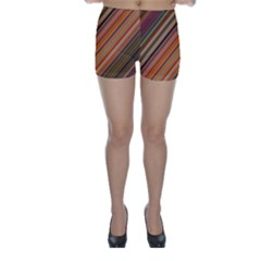 Diagonal Stripes 2 Skinny Shorts