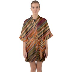 Diagonal Stripes 2 Quarter Sleeve Kimono Robe by TimelessFashion