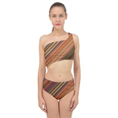 Diagonal Stripes 2 Spliced Up Two Piece Swimsuit by TimelessFashion
