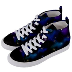 Serene Space Women s Mid Top Canvas Sneakers by JadehawksAnD