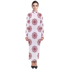 Funny Flowers Turtleneck Maxi Dress by TimelessFashion