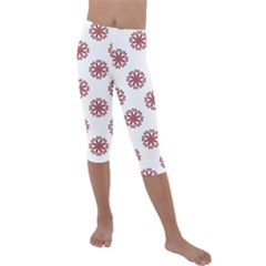 Funny Flowers Kids  Lightweight Velour Capri Leggings  by TimelessFashion