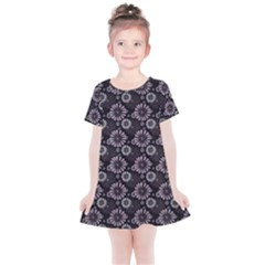 Flowers Delight Pink Kids  Simple Cotton Dress by TimelessFashion