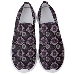Flowers Delight Pink Men s Slip On Sneakers by TimelessFashion