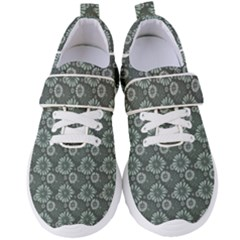 Flowers Delight Green Women s Velcro Strap Shoes by TimelessFashion