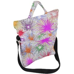 Fireworks Fold Over Handle Tote Bag by TimelessFashion