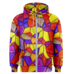 Funny Mosaic Men s Zipper Hoodie by TimelessFashion
