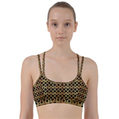 Gold On Black Line Them Up Sports Bra by TimelessFashion