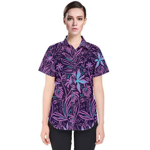 Garden Style Women s Short Sleeve Shirt by TimelessFashion