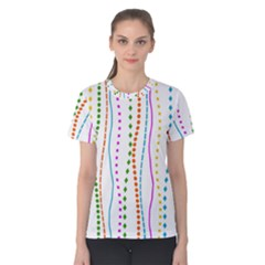 Lines With A Difference Women s Cotton Tee by TimelessFashion