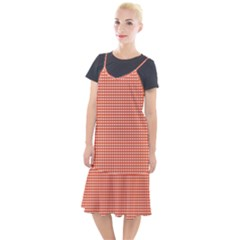 Grid In Orange Camis Fishtail Dress by TimelessFashion