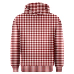 Grid In Red Men s Overhead Hoodie by TimelessFashion
