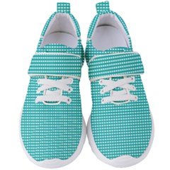 Grid In Turquoise Women s Velcro Strap Shoes by TimelessFashion