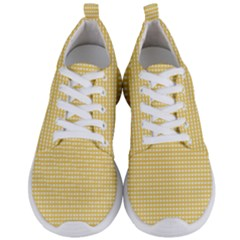 Grid In Yellow Men s Lightweight Sports Shoes