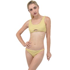 Grid In Yellow The Little Details Bikini Set by TimelessFashion