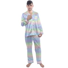 Pastel Fever Men s Satin Pajamas Long Pants Set