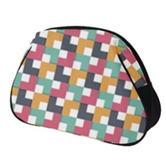 Retro Squares Full Print Accessory Pouch (small) by TimelessFashion