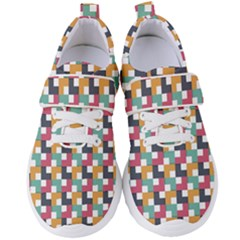 Retro Squares Women s Velcro Strap Shoes by TimelessFashion