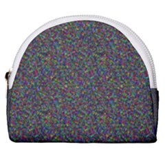 Rainbow Dots Horseshoe Style Canvas Pouch by TimelessFashion