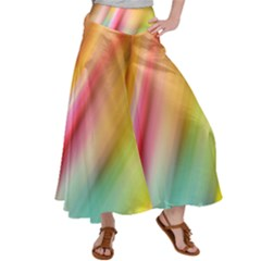 Mystery In Color Satin Palazzo Pants by TimelessFashion