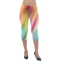 Mystery In Color Lightweight Velour Capri Leggings  by TimelessFashion