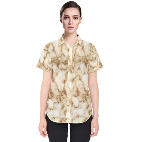 Marble Effect Women s Short Sleeve Shirt by TimelessFashion