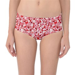 Lovely Hearts Mid-waist Bikini Bottoms by TimelessFashion