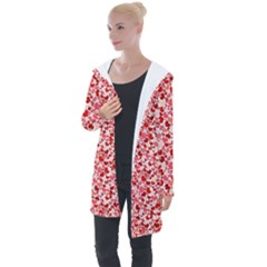 Lovely Hearts Longline Hooded Cardigan by TimelessFashion