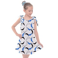 Simply Retro Blue Kids  Tie Up Tunic Dress by TimelessFashion