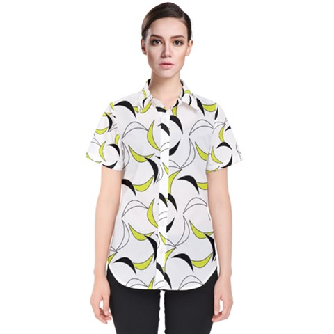 Simply Retro Yellow Women s Short Sleeve Shirt by TimelessFashion
