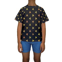 Twinkeling Triangles Kids  Short Sleeve Swimwear by TimelessFashion