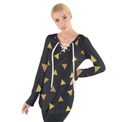 Twinkeling Triangles Tie Up Tee by TimelessFashion