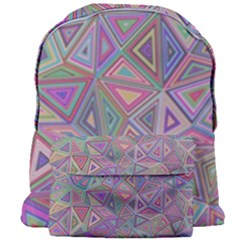 Triangle Chaos Giant Full Print Backpack
