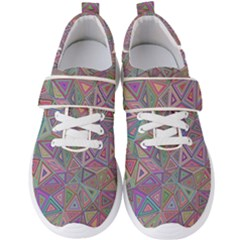 Triangle Chaos Men s Velcro Strap Shoes by TimelessFashion