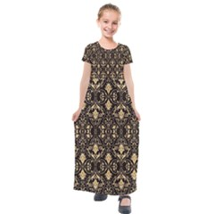 Vintage Look  Kids  Short Sleeve Maxi Dress by TimelessFashion