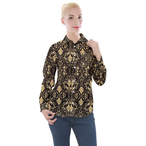 Vintage Look  Women s Long Sleeve Pocket Shirt by TimelessFashion