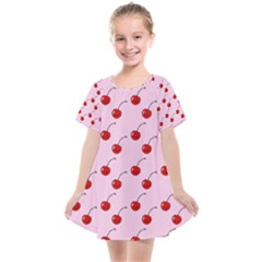 Kawaii Cherries Red Pattern Kids  Smock Dress