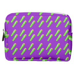 Ice Freeze Purple Pattern Make Up Pouch (medium) by snowwhitegirl