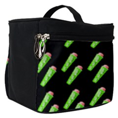 Ice Freeze Black Pattern Make Up Travel Bag (small) by snowwhitegirl