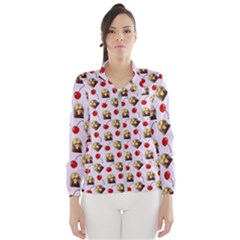 Doll And Cherries Pattern Women s Windbreaker