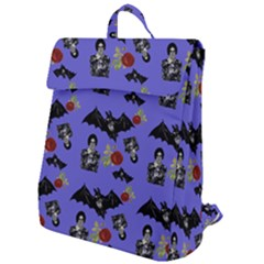Goth Bat Floral Flap Top Backpack